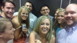 post rehearsal dinner; even an elevator can be fun